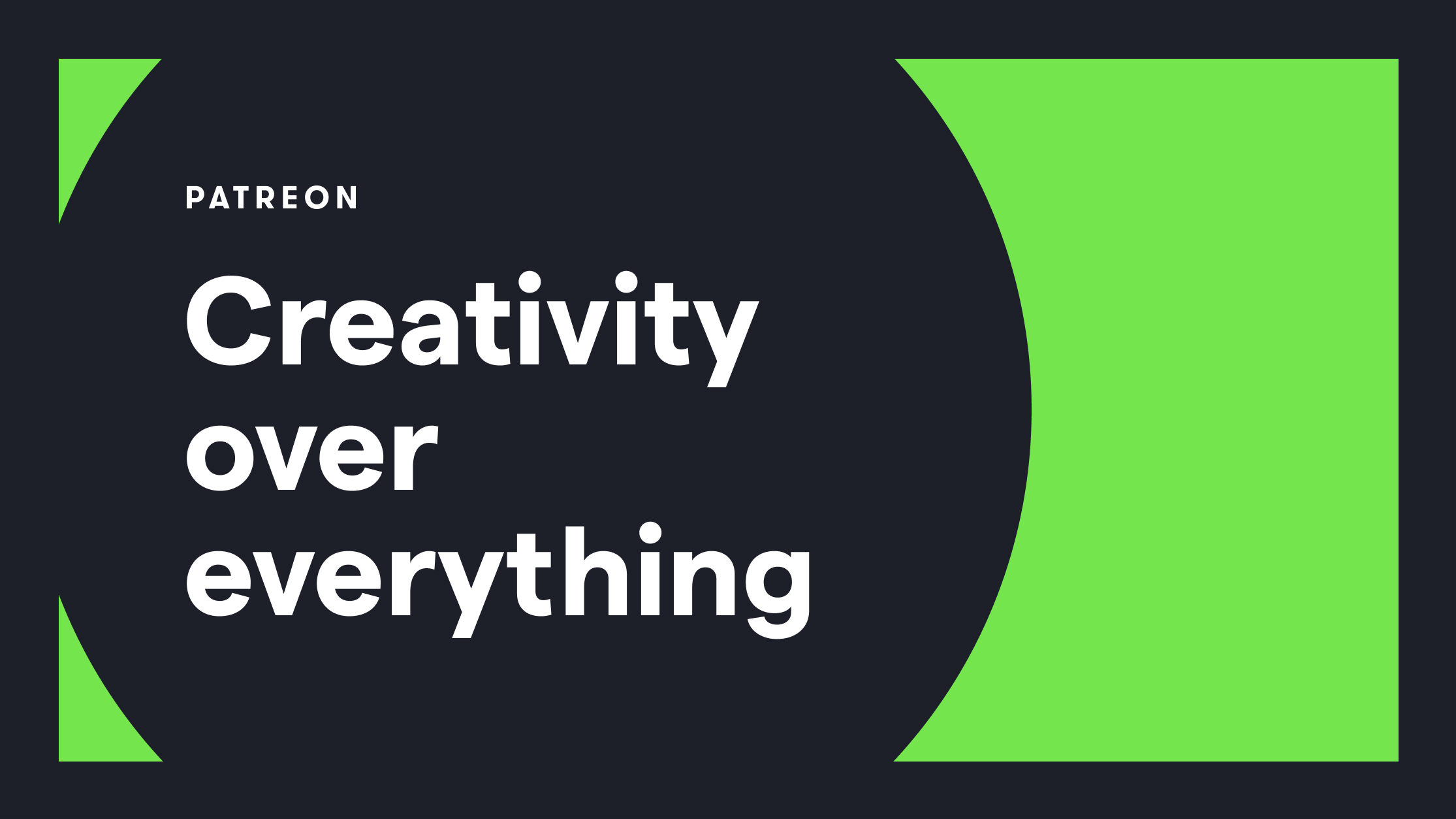 The Creative System Is Broken — Together Let's Put Creativity over Everything