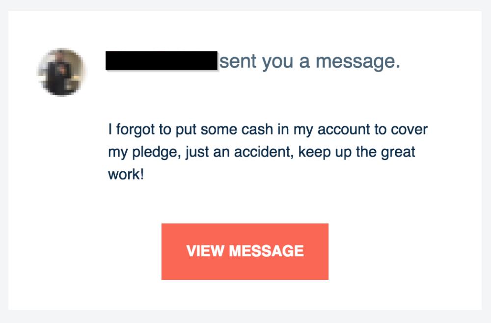 Immediate declined response