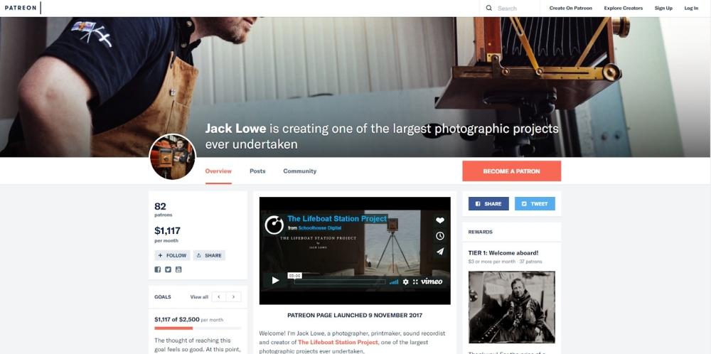 Jack Lowe Patreon page