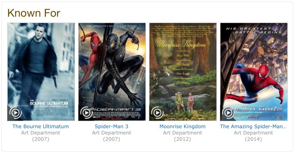 Mark Pollard's IMDb page shows many of his film accomplishments.