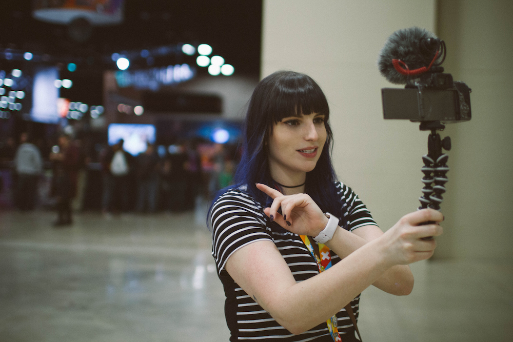 Full-Time Twitch Streamer: Kate vlogs, even while she's 'on the go'.