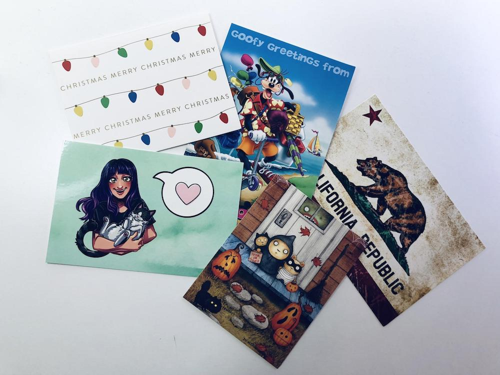 Full-Time Twitch Streamer: Kate sends postcards to her $25/mo and $50/mo patrons.