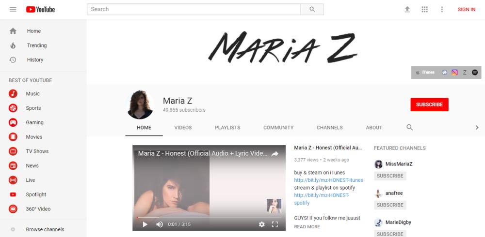 Maria Z - Make Money as a Musician Online
