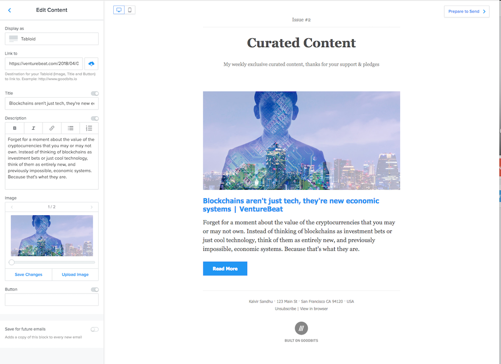 Goodbits makes curated content a breeze to put together.