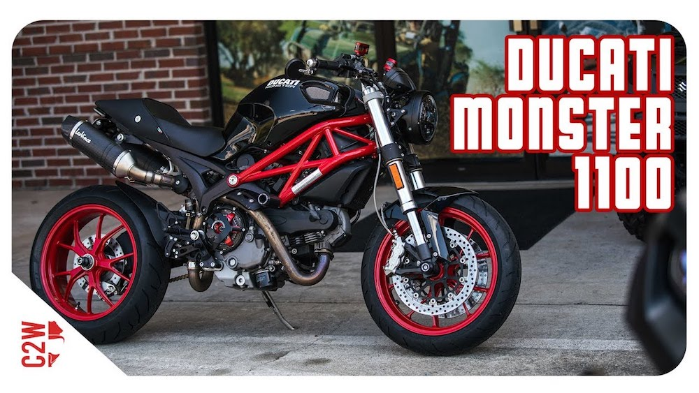 Rewards for streamers: one of the Wrecked Bike Rebuilds, a Ducati Monster 1100