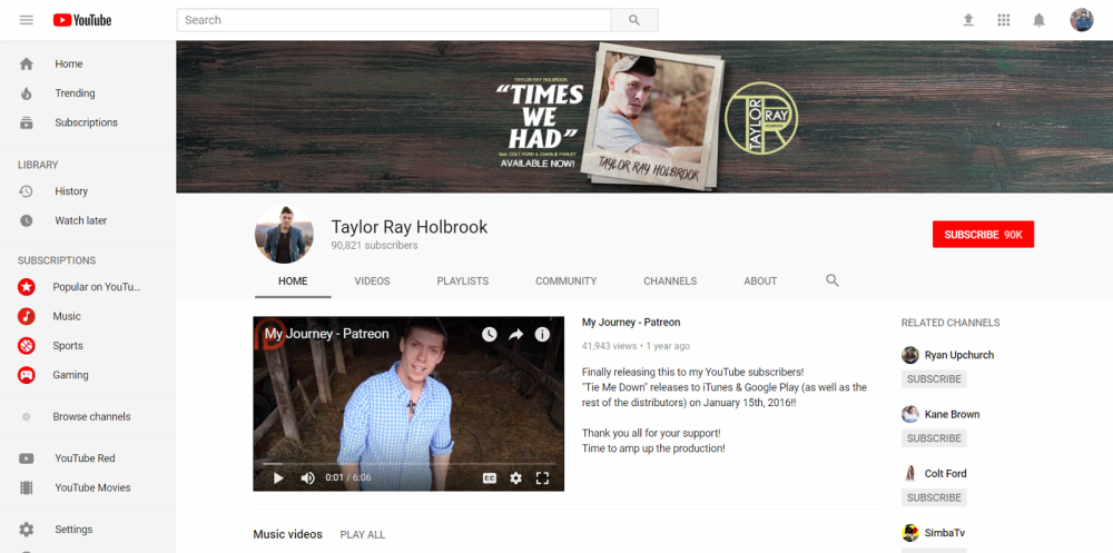 Taylor Ray Holbrook - Make Money as a Musician Online