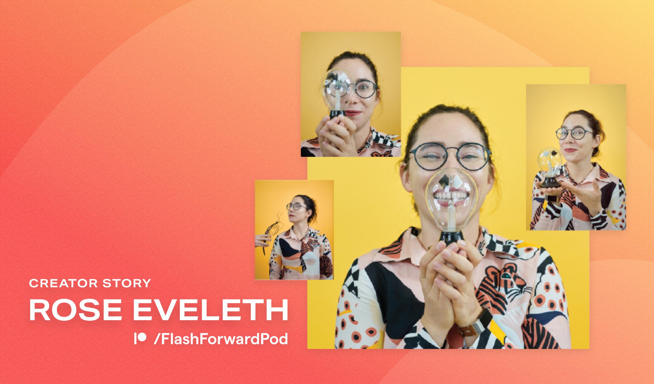 Rose Eveleth portrait montage